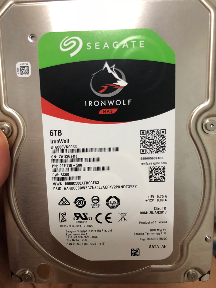 Seagate IronWolf 6TB NAS HDD (ST6000VN0033)